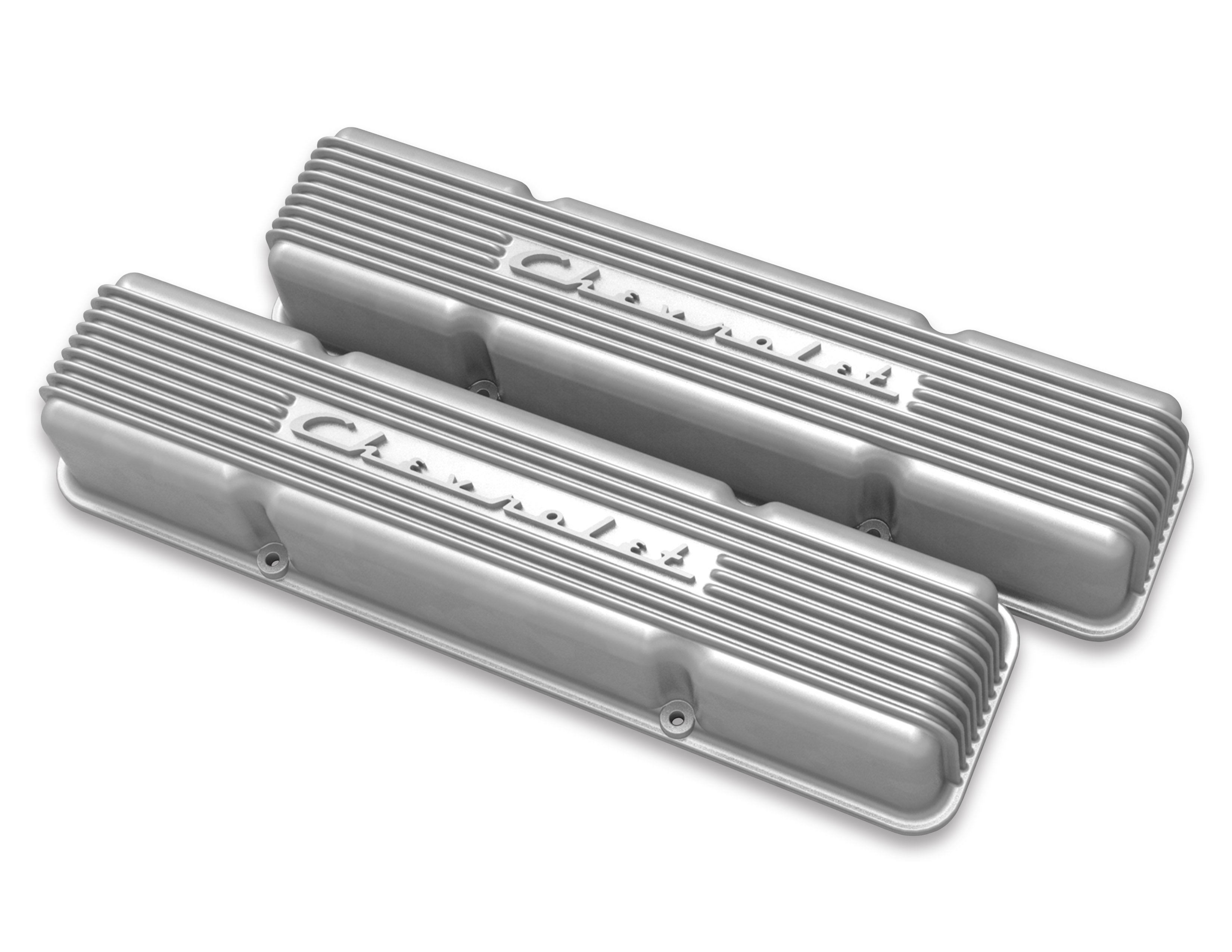 (1947-85) Holley Vintage Series Chevrolet Script Valve Cover- Natural